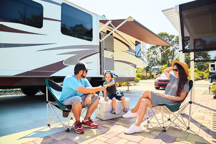 Camping im Wohnmobil mit Kinder