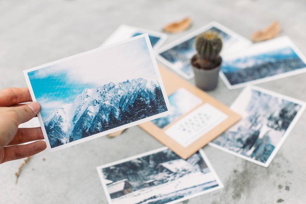 Postkartenaufkleber